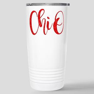 Chi Omega ChiO 16 oz Stainless Steel Travel Mug