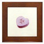 Biohazard Candy Heart Framed Tile