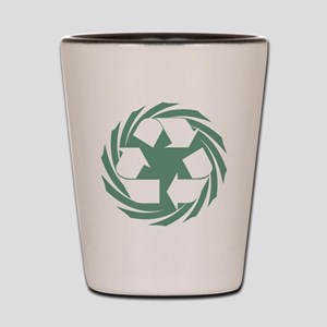 Recycle spinning Shot Glass