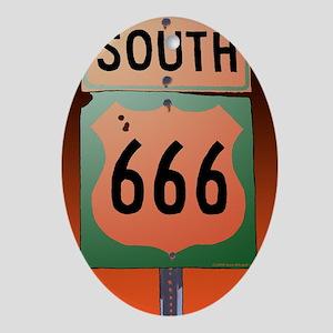 route666soK-R Oval Ornament