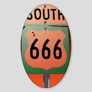 route666soK-R Sticker (Oval)