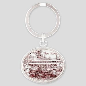 SwiftRiverRedLineOval Oval Keychain