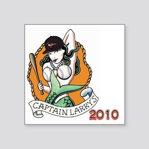 "Cap Larrys O Square Sticker 3"" x 3"""