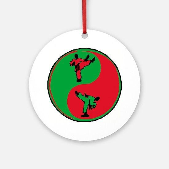 Karate Emblem Round Ornament (Round)