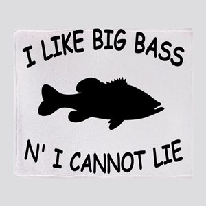 i like big bass centered Throw Blanket