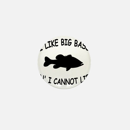 i like big bass centered Mini Button