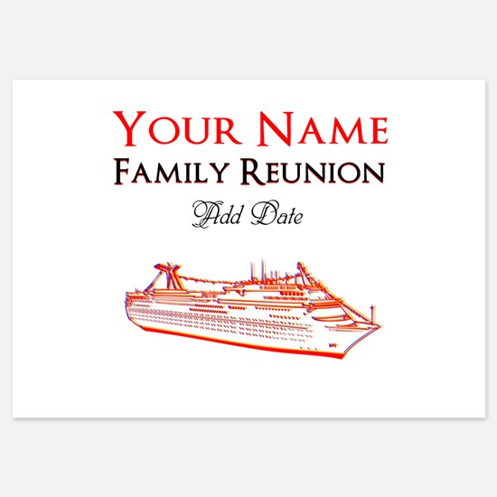 FAMILY REUNION CRUISE 5x7 Flat Cards