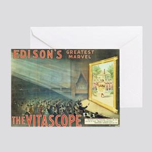 movie poster edison Greeting Card