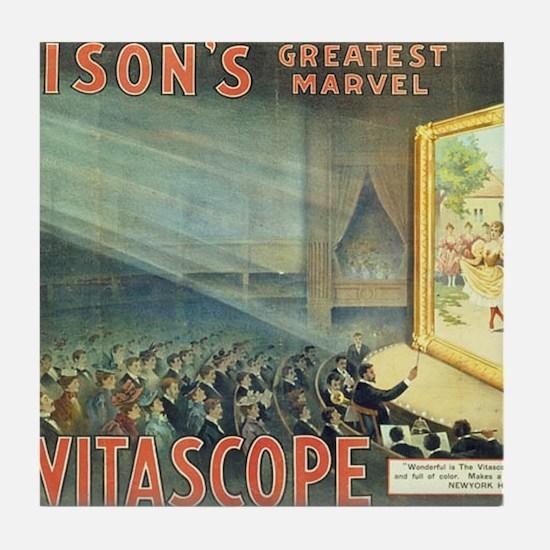 movie poster edison Tile Coaster