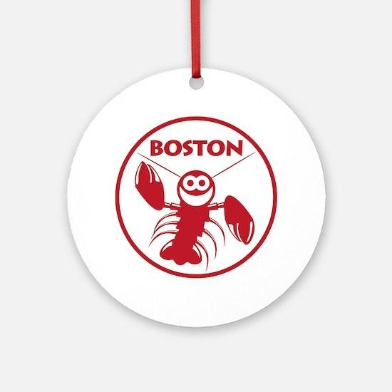 Boston Kids Lobster Round Ornament