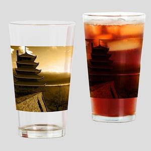 Reading Pagoda Drinking Glass