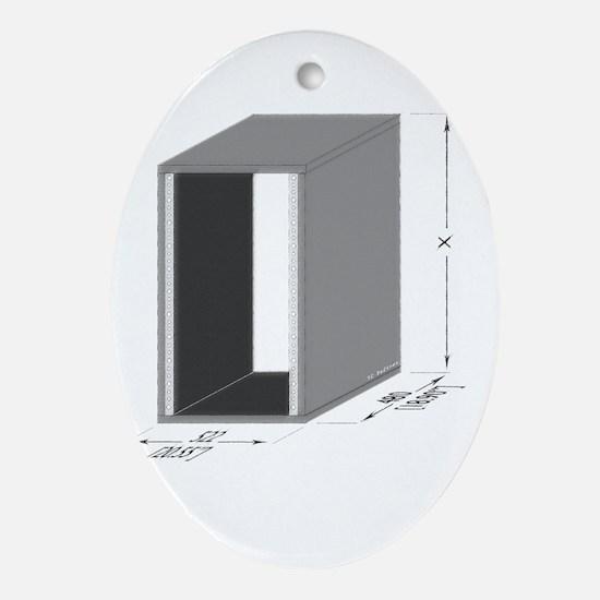 NiceRack Dark Oval Ornament