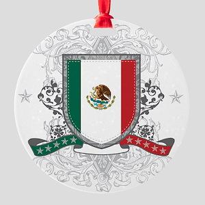mexicoshield Round Ornament
