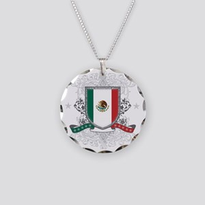 mexicoshield Necklace Circle Charm