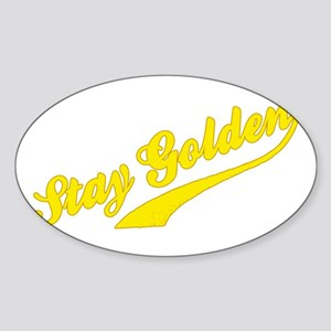Stay Golden Girls T-Shirt Oval Sticker
