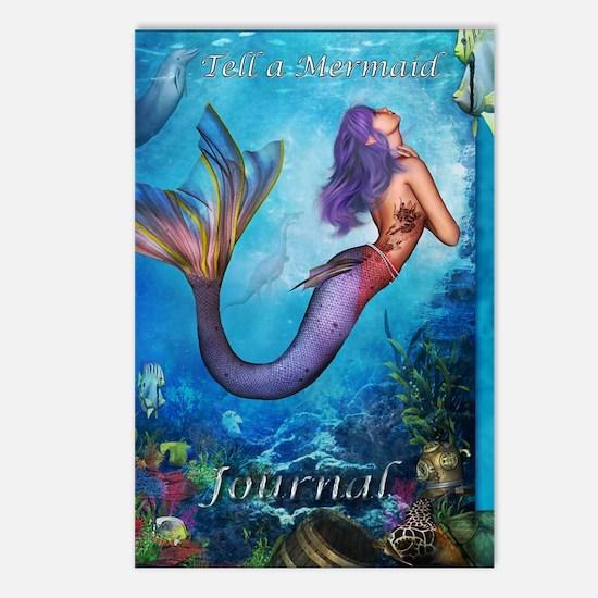 MermaidJournel3 Postcards (Package of 8)