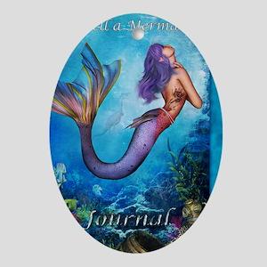 MermaidJournel3 Oval Ornament
