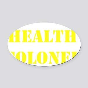 Health Colonel Yellow Transperent  Oval Car Magnet