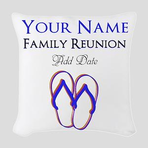 FUN FAMILY REUNION Woven Throw Pillow