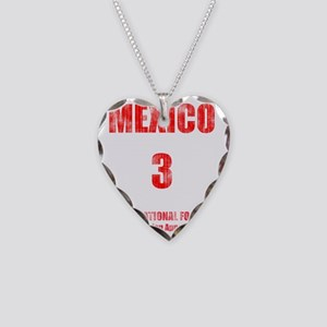 MEXICO football vintage Necklace Heart Charm