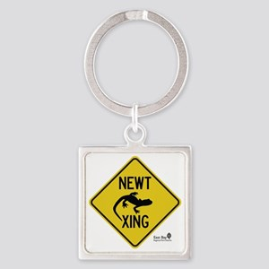 newt-xing Square Keychain