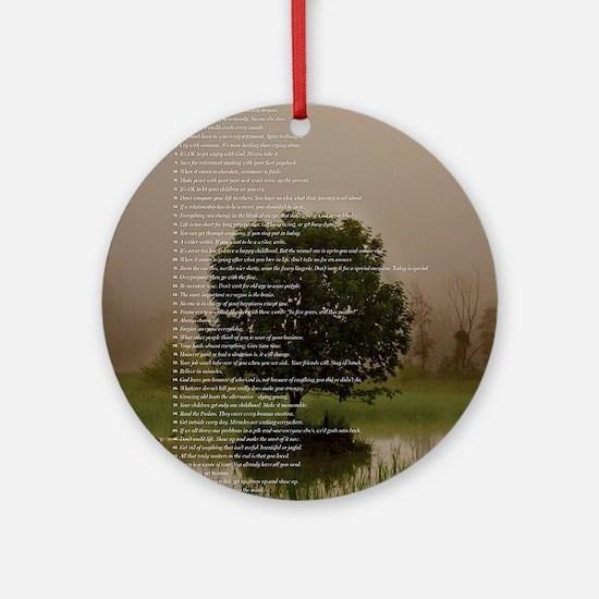 Brett16x20Vert_Tree2 Round Ornament