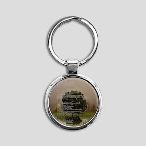 Brett16x20Vert_Tree2 Round Keychain