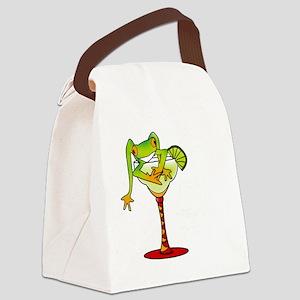 MargaretteFrogWantsSALT_darks Canvas Lunch Bag