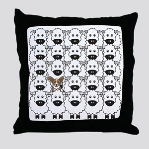 Cardie in the Sheep Throw Pillow
