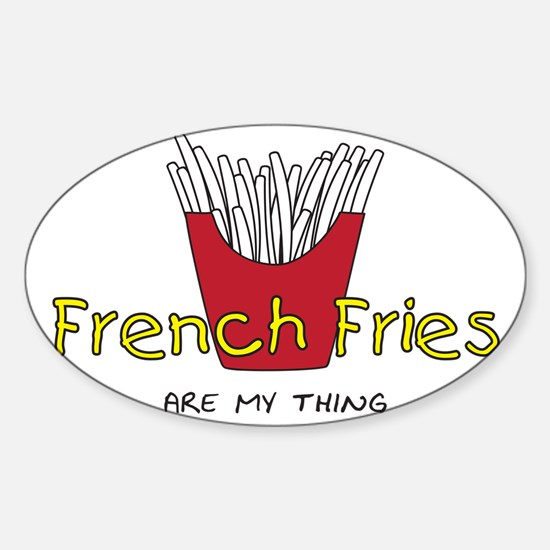 French Fries Sticker (Oval)
