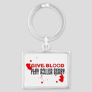 give blood Landscape Keychain