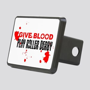 give blood Rectangular Hitch Cover