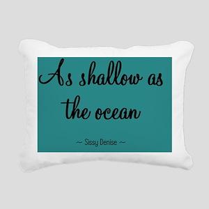 shallowocean_pin Rectangular Canvas Pillow
