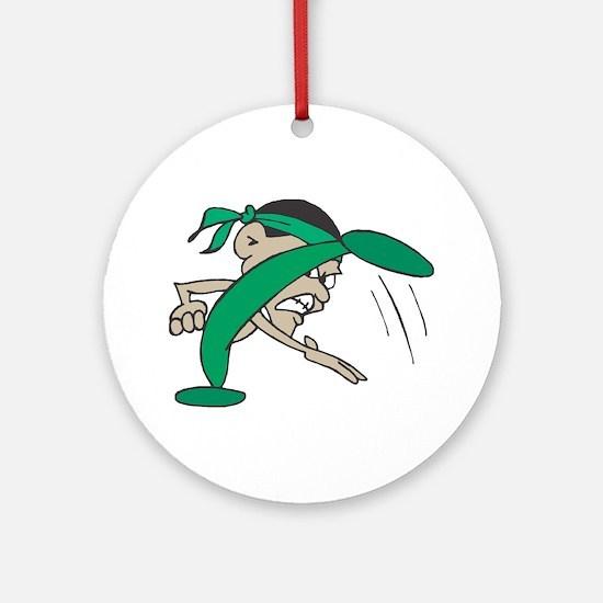 Karate Caricature Ornament (Round)