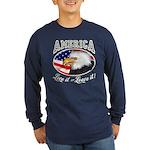 America - Love it or Leave it! Lng Slv Dark Tee