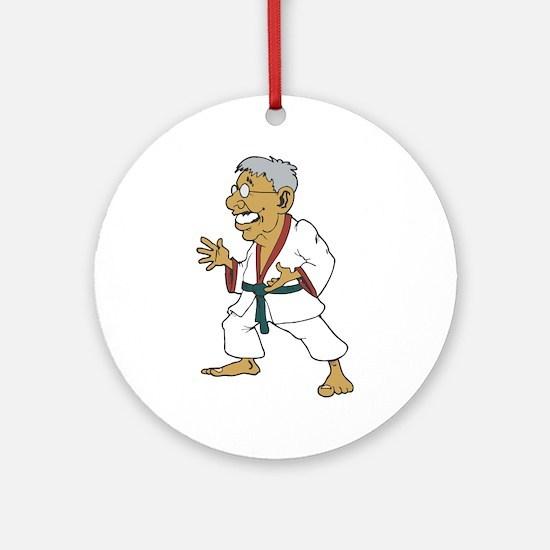 Karate Senior Ornament (Round)
