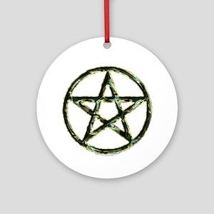 Pentacle or Pentagram Ornament (Round)