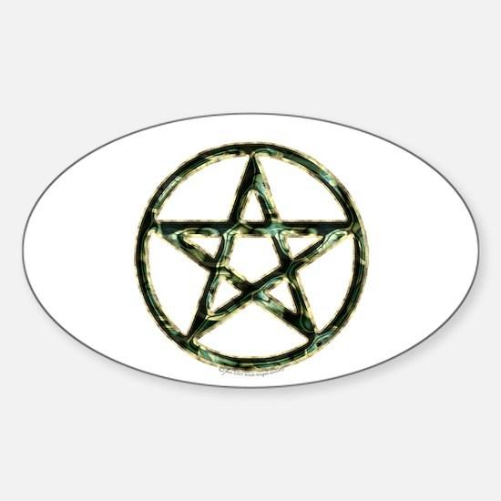 Pentacle or Pentagram Oval Decal