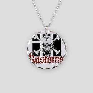 IH Kustoms Logo Large Necklace Circle Charm