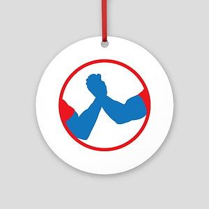 Schwarzenegger/Ventura 2012 Icon Round Ornament