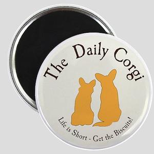 LARGE CIRCULAR daily corgi logo Magnet