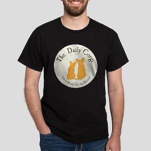 LARGE CIRCULAR daily corgi logo Dark T-Shirt