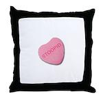 Stoopid Candy Heart Throw Pillow
