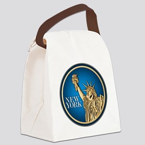 New York Gold Dollar Canvas Lunch Bag