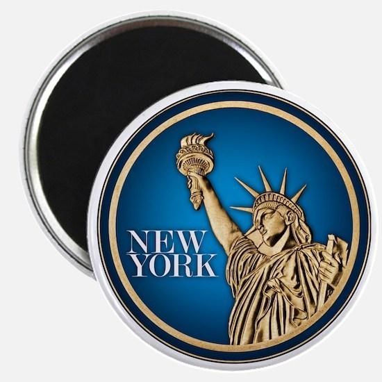 New York Gold Dollar Magnet