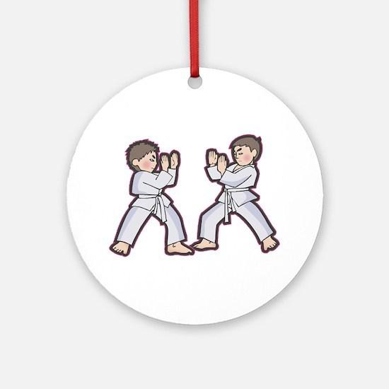 Karate Boys Ornament (Round)