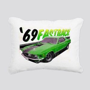69-Ford-Mustang-FastBack Rectangular Canvas Pillow