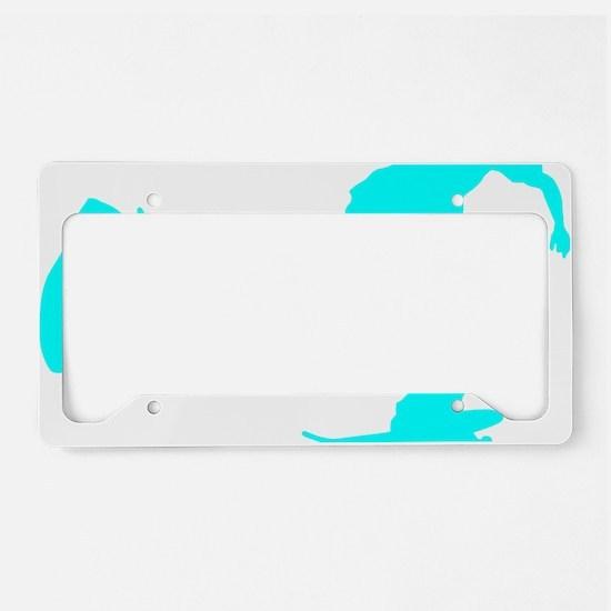 pushing_cyan License Plate Holder