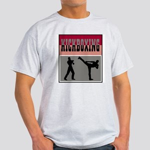 Kickboxing Logo Ash Grey T-Shirt