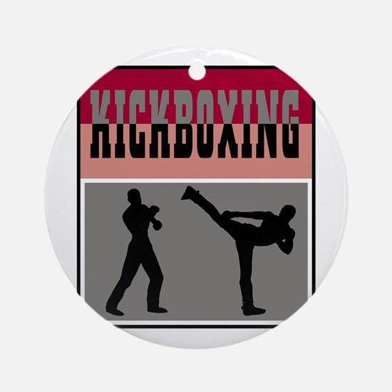 Kickboxing Logo Ornament (Round)